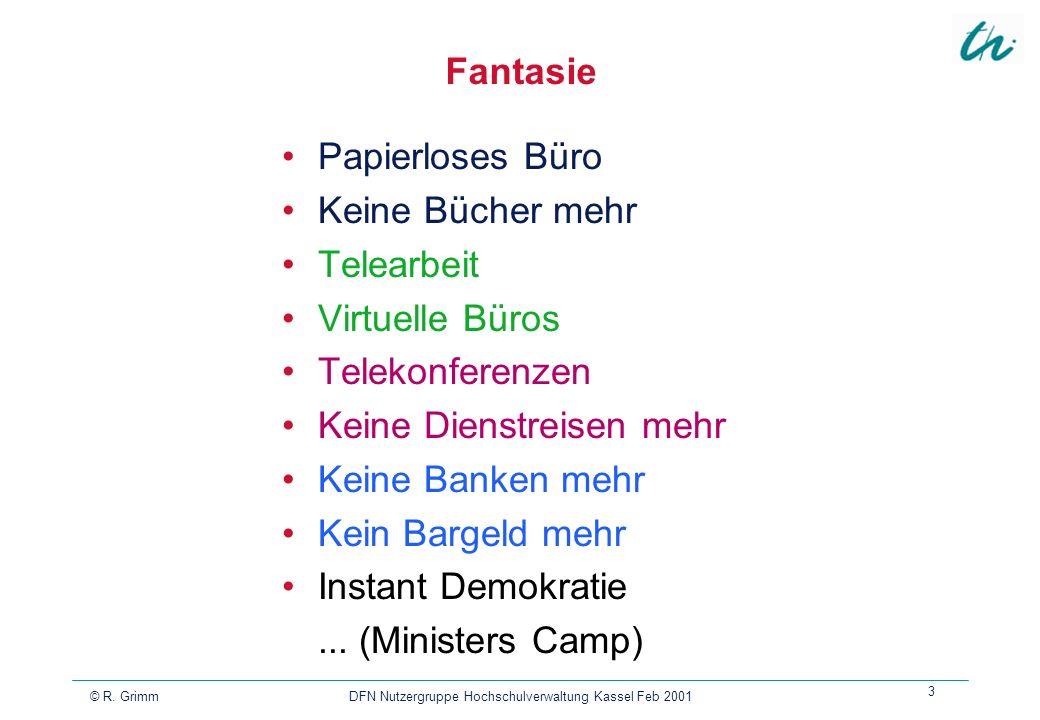 DFN Nutzergruppe Hochschulverwaltung Kassel Feb 2001