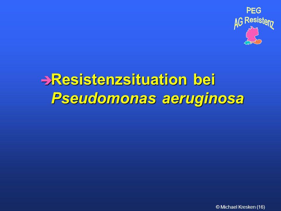 Resistenzsituation bei Pseudomonas aeruginosa