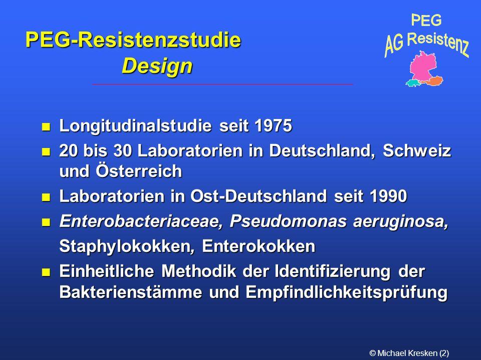PEG-Resistenzstudie Design Longitudinalstudie seit 1975