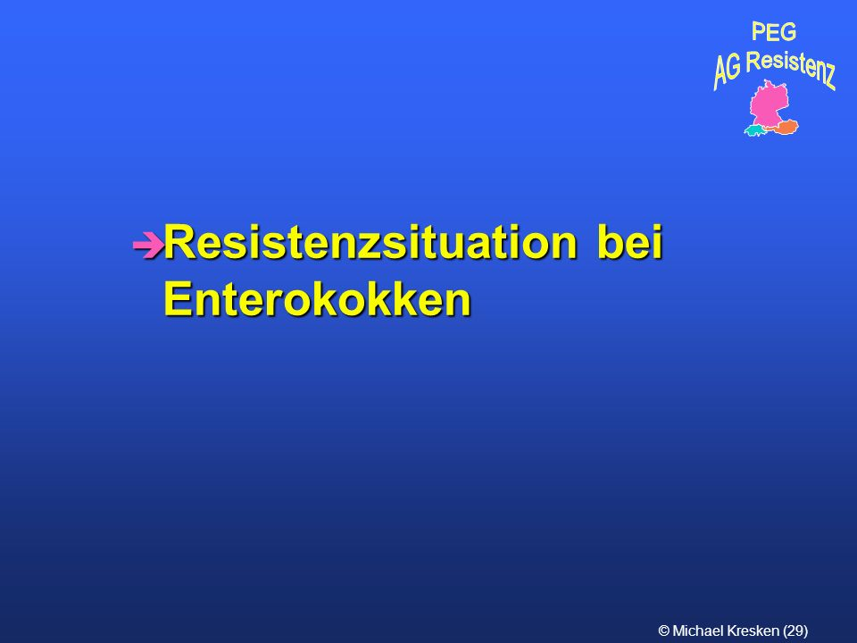 Resistenzsituation bei Enterokokken