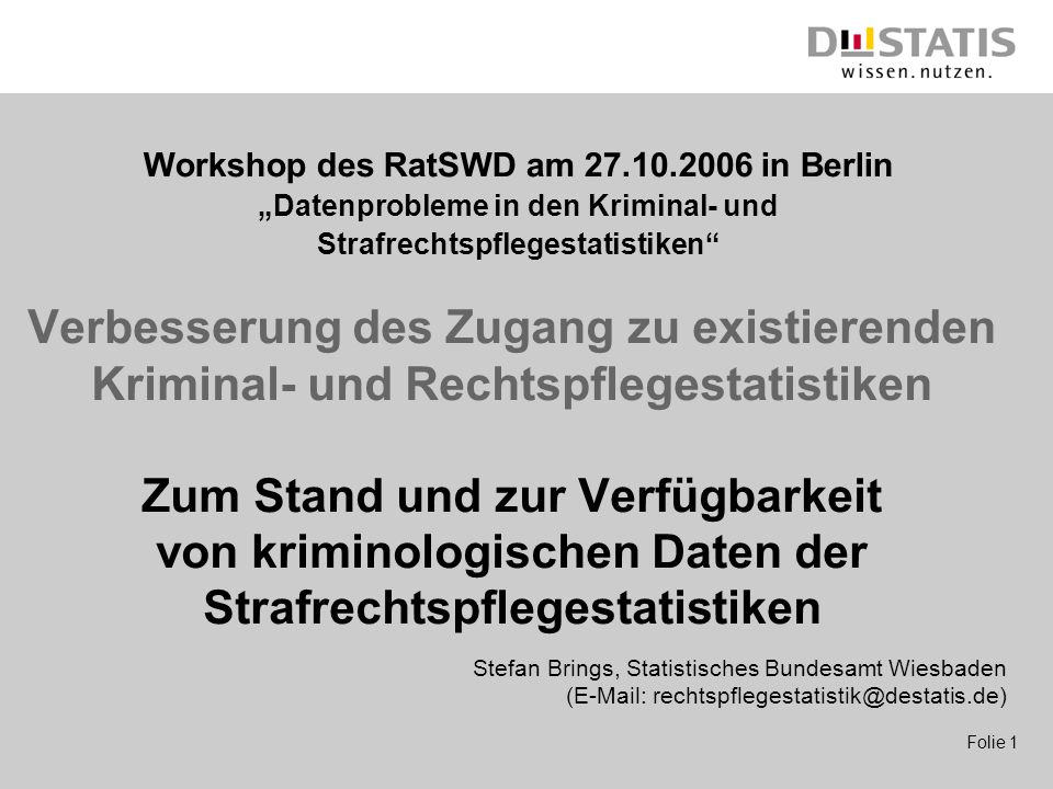 Workshop des RatSWD am 27.10.2006 in Berlin
