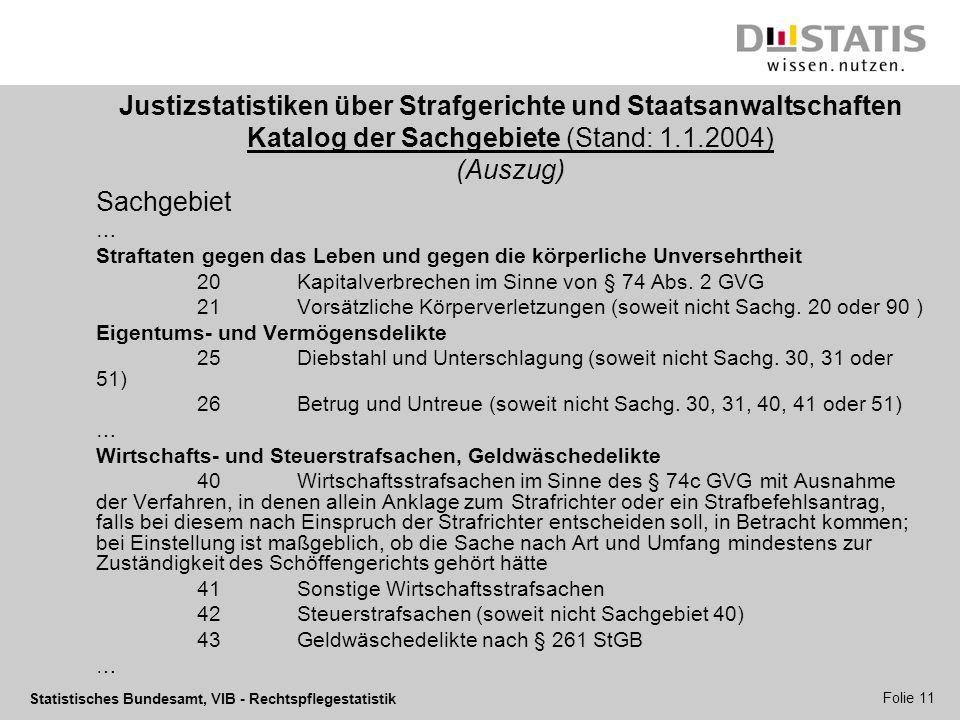 Justizstatistiken über Strafgerichte und Staatsanwaltschaften