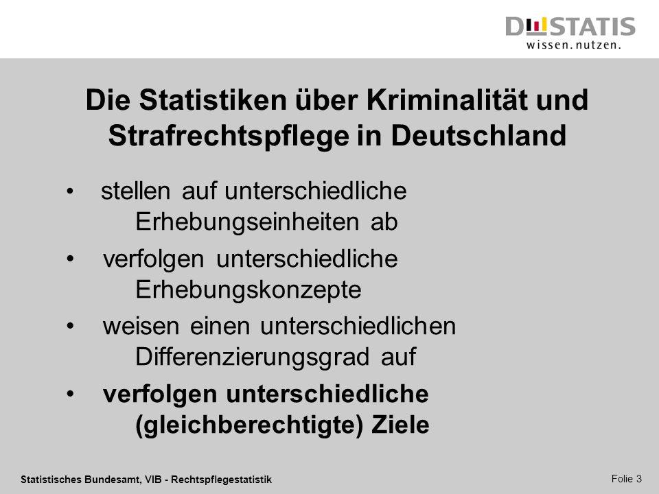 Die Statistiken über Kriminalität und Strafrechtspflege in Deutschland