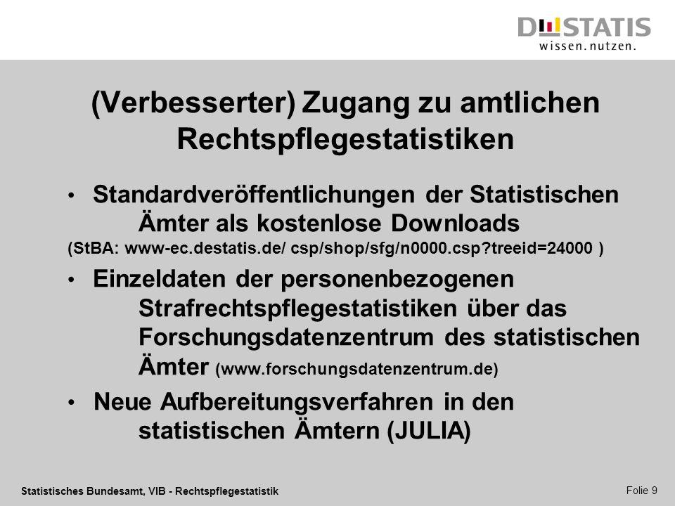 (Verbesserter) Zugang zu amtlichen Rechtspflegestatistiken