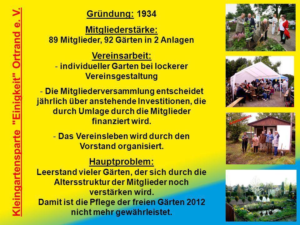 Kleingartensparte Einigkeit Ortrand e. V.