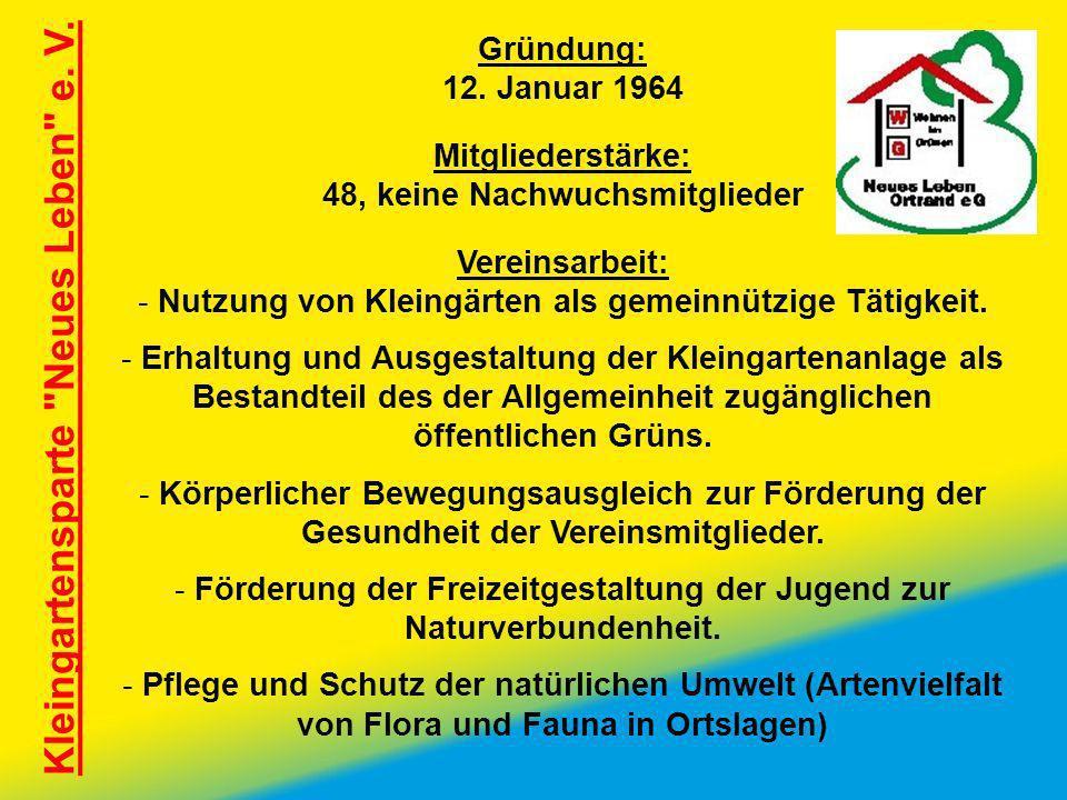 Kleingartensparte Neues Leben e. V.