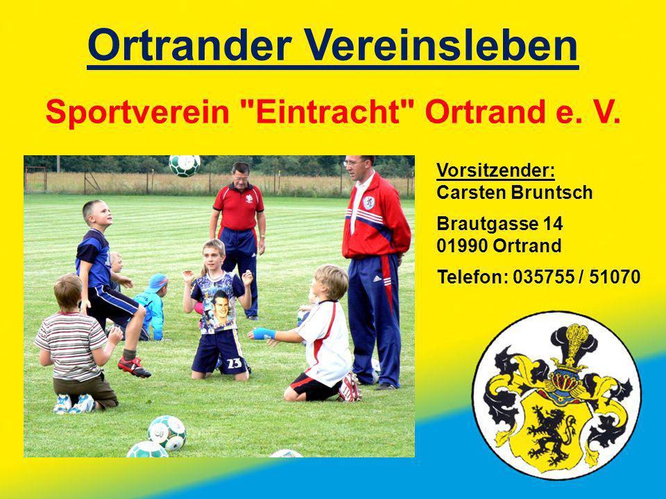 Ortrander Vereinsleben Sportverein Eintracht Ortrand e. V.