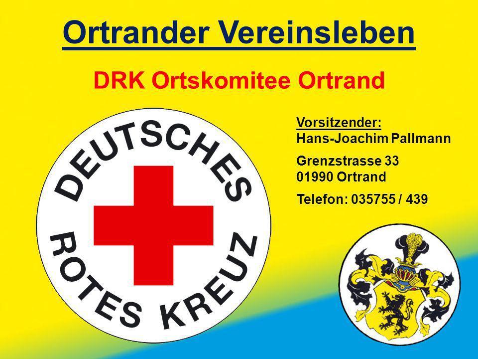 Ortrander Vereinsleben DRK Ortskomitee Ortrand