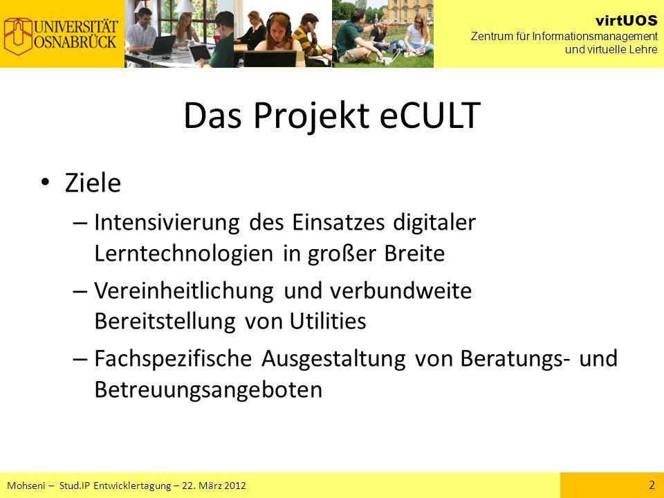 Das Projekt eCULT Ziele