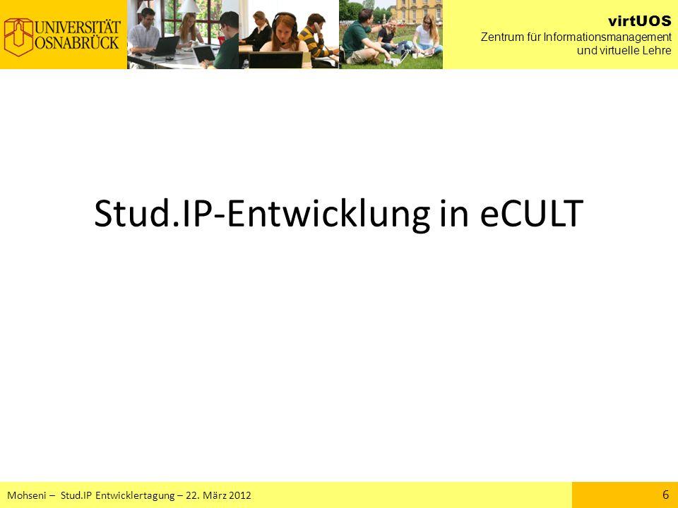 Stud.IP-Entwicklung in eCULT