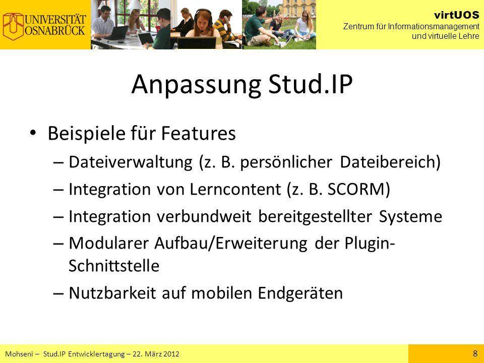 Anpassung Stud.IP Beispiele für Features