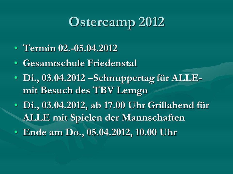 Ostercamp 2012 Termin 02.-05.04.2012 Gesamtschule Friedenstal