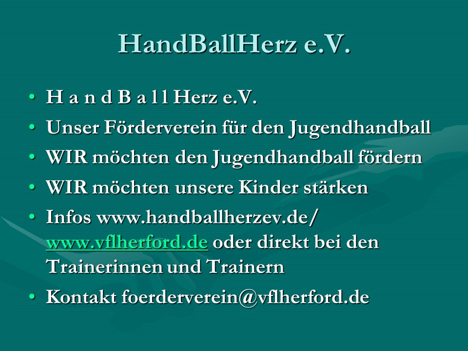 HandBallHerz e.V. H a n d B a l l Herz e.V.