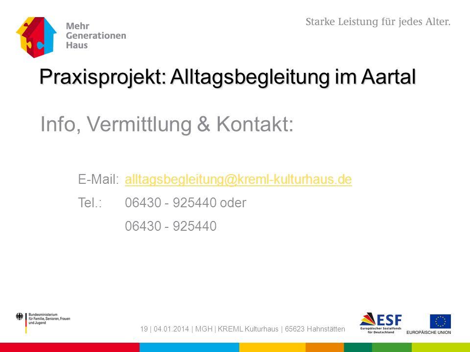 Praxisprojekt: Alltagsbegleitung im Aartal