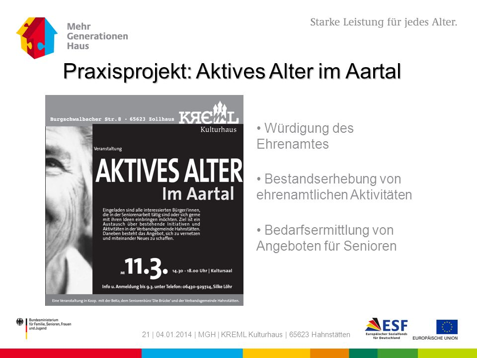 Praxisprojekt: Aktives Alter im Aartal
