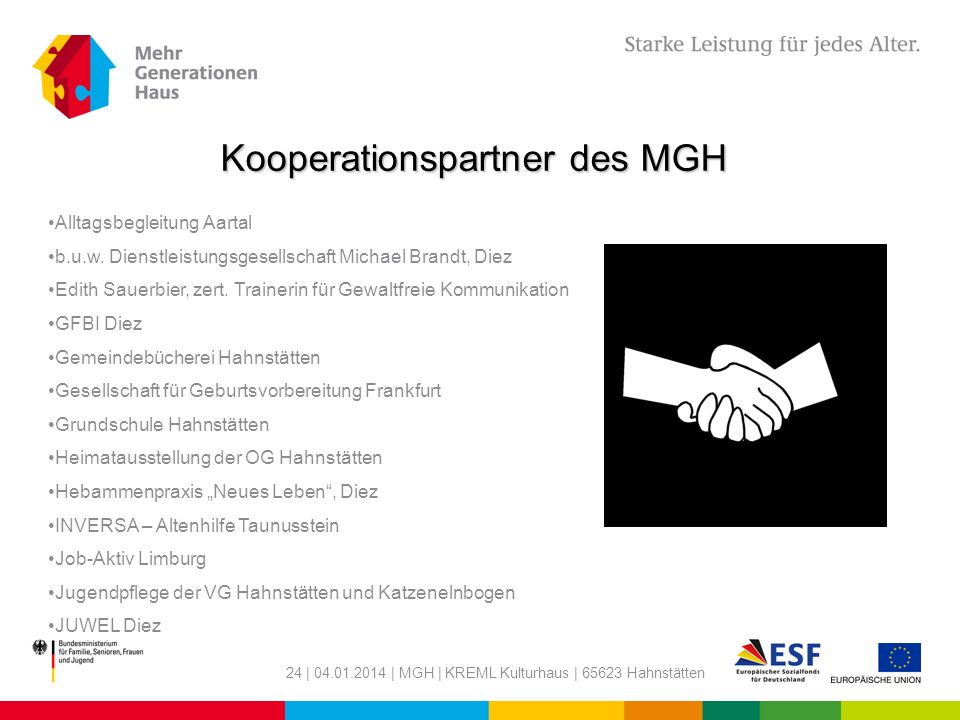 Kooperationspartner des MGH