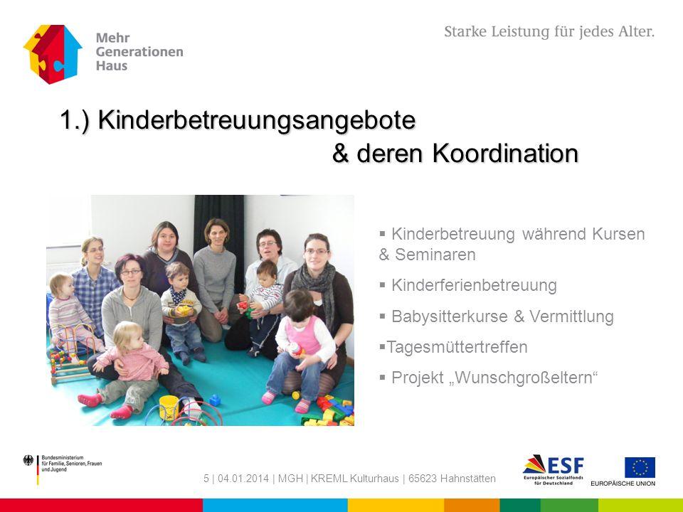 1.) Kinderbetreuungsangebote & deren Koordination