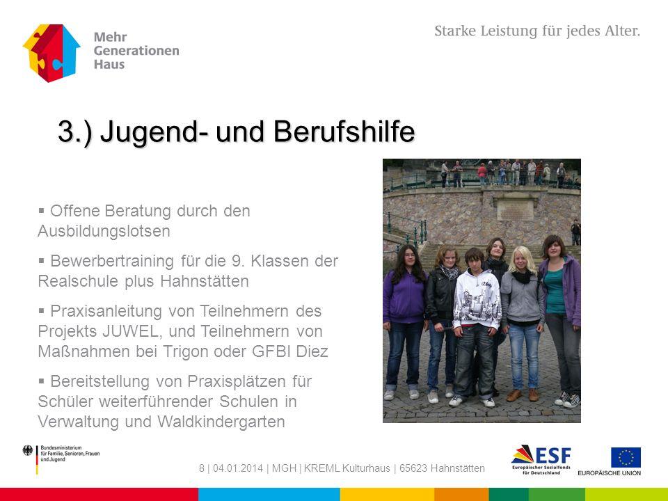 3.) Jugend- und Berufshilfe