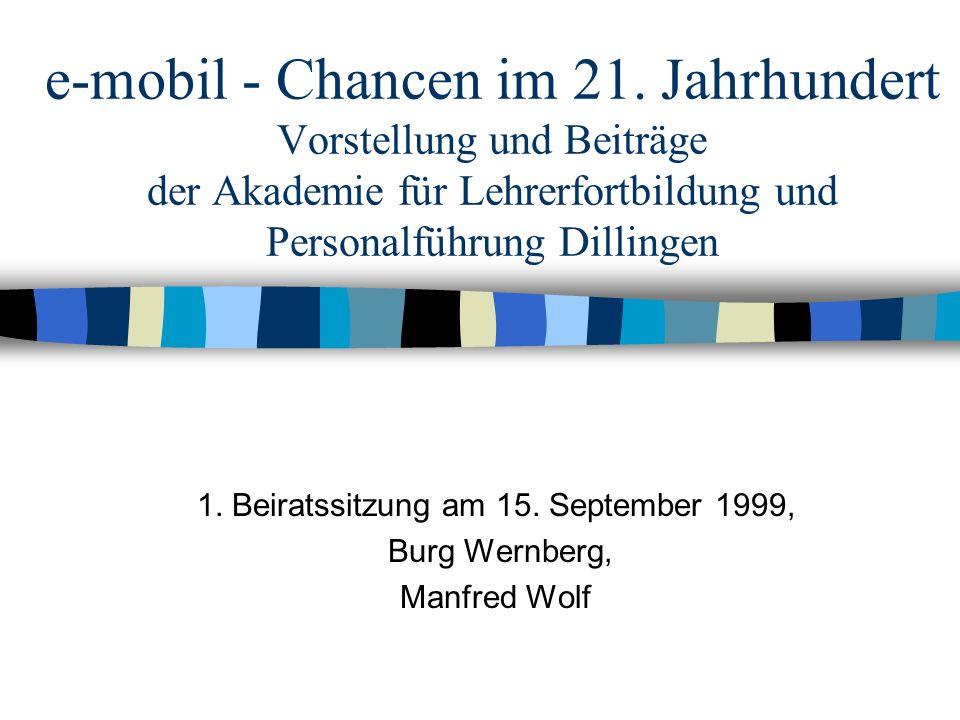 1. Beiratssitzung am 15. September 1999, Burg Wernberg, Manfred Wolf