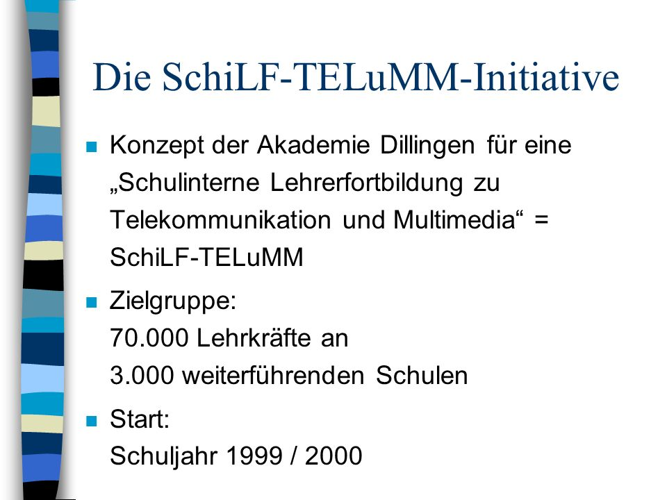 Die SchiLF-TELuMM-Initiative