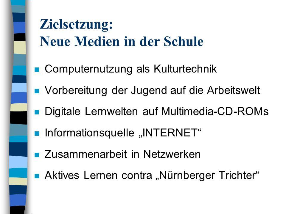 Zielsetzung: Neue Medien in der Schule