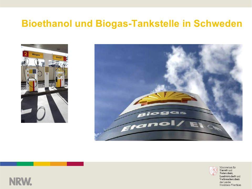 Bioethanol und Biogas-Tankstelle in Schweden