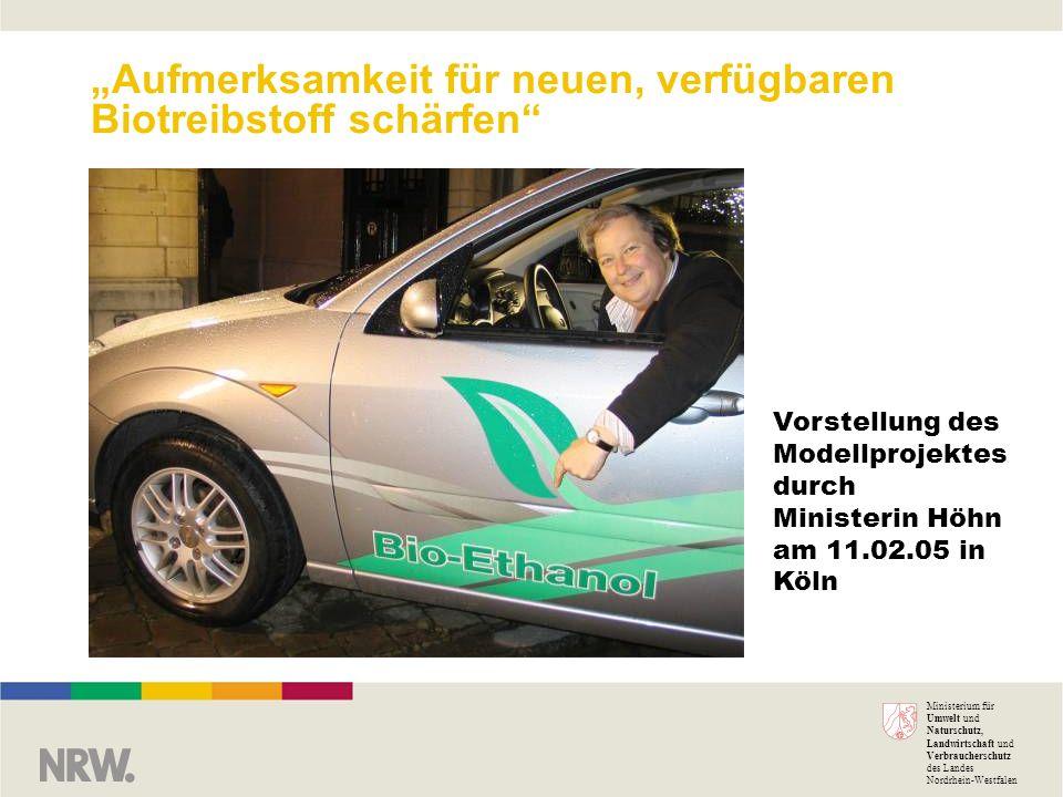 """""""Aufmerksamkeit für neuen, verfügbaren Biotreibstoff schärfen"""
