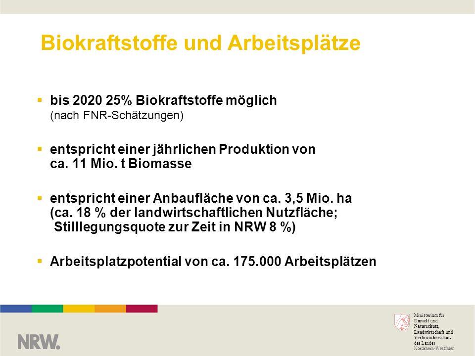 Biokraftstoffe und Arbeitsplätze