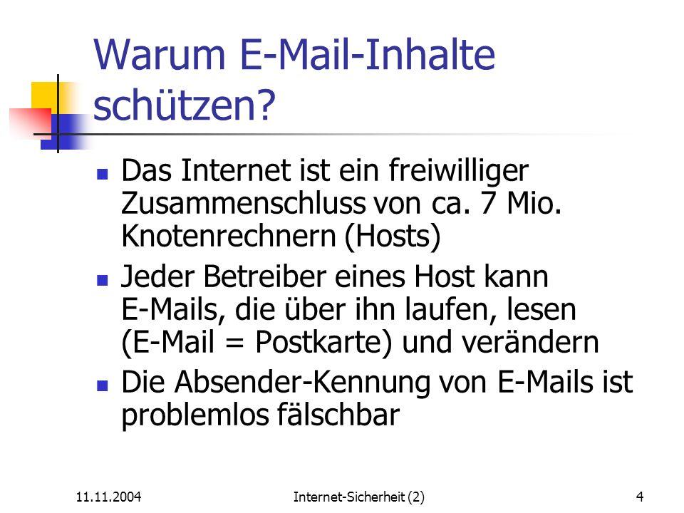 Warum E-Mail-Inhalte schützen