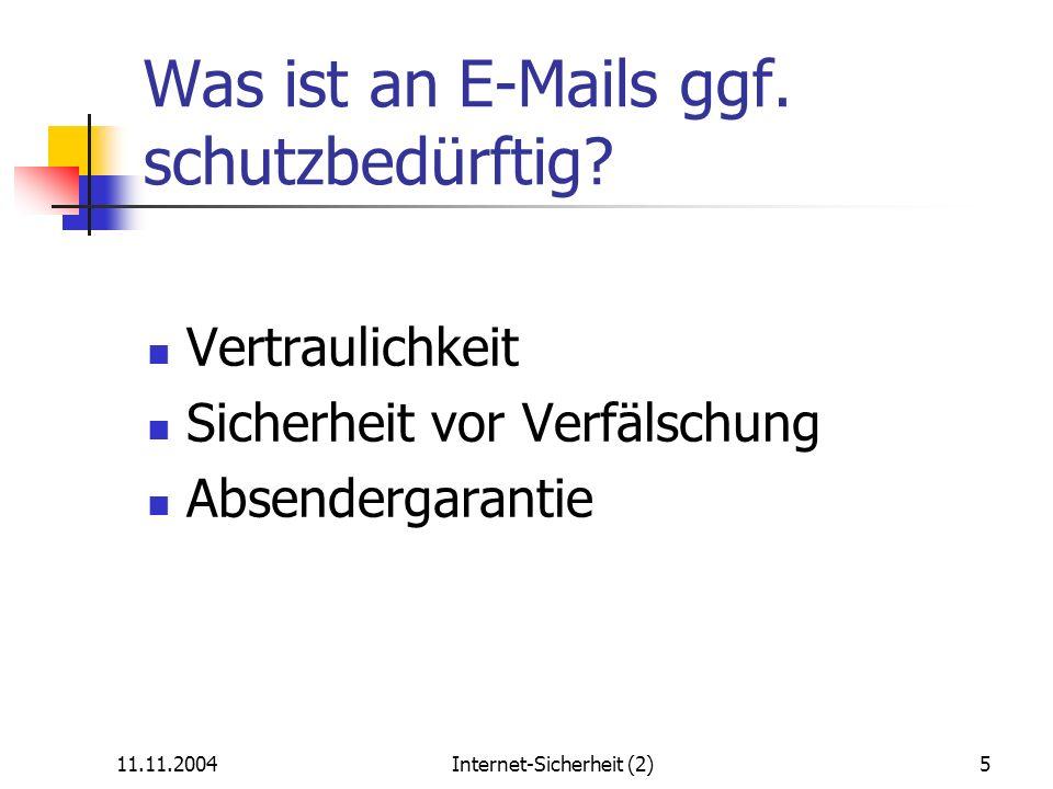 Was ist an E-Mails ggf. schutzbedürftig
