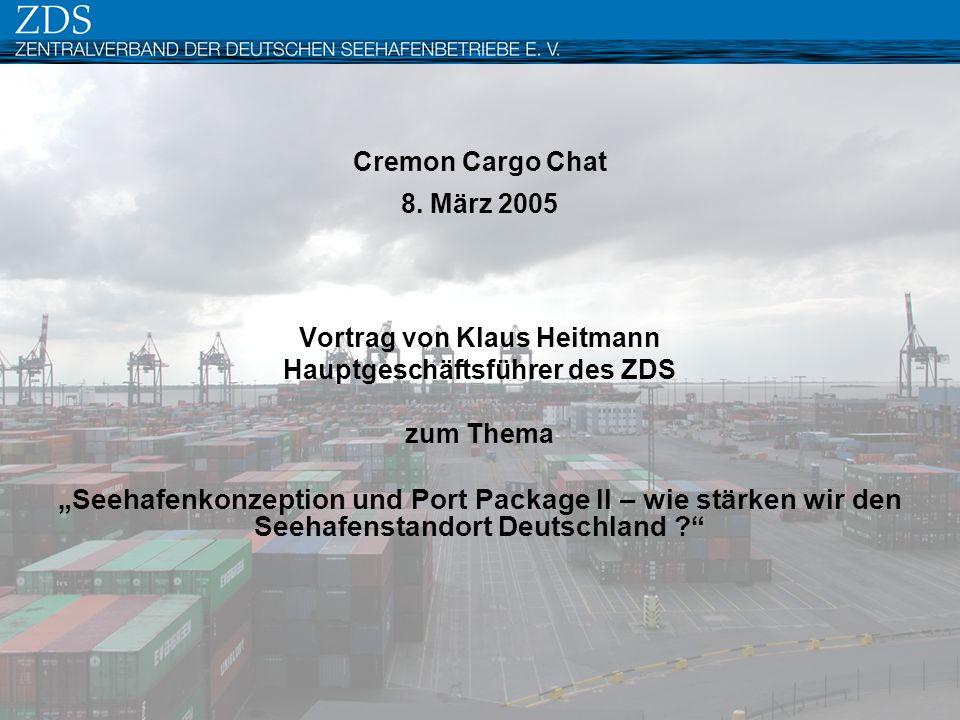 Vortrag von Klaus Heitmann Hauptgeschäftsführer des ZDS