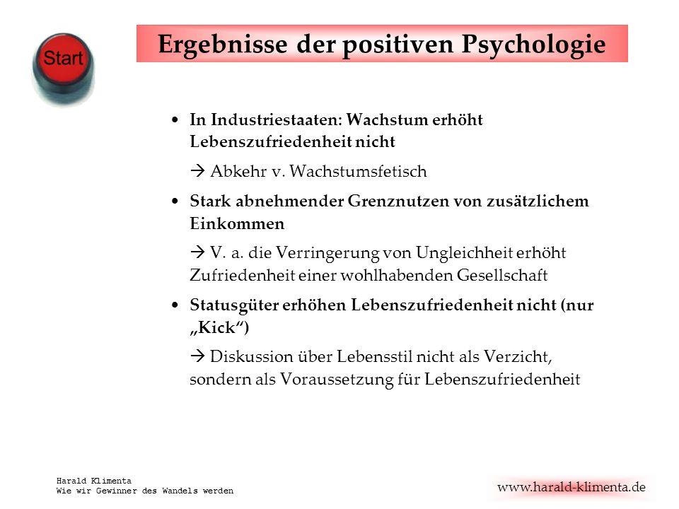 Ergebnisse der positiven Psychologie