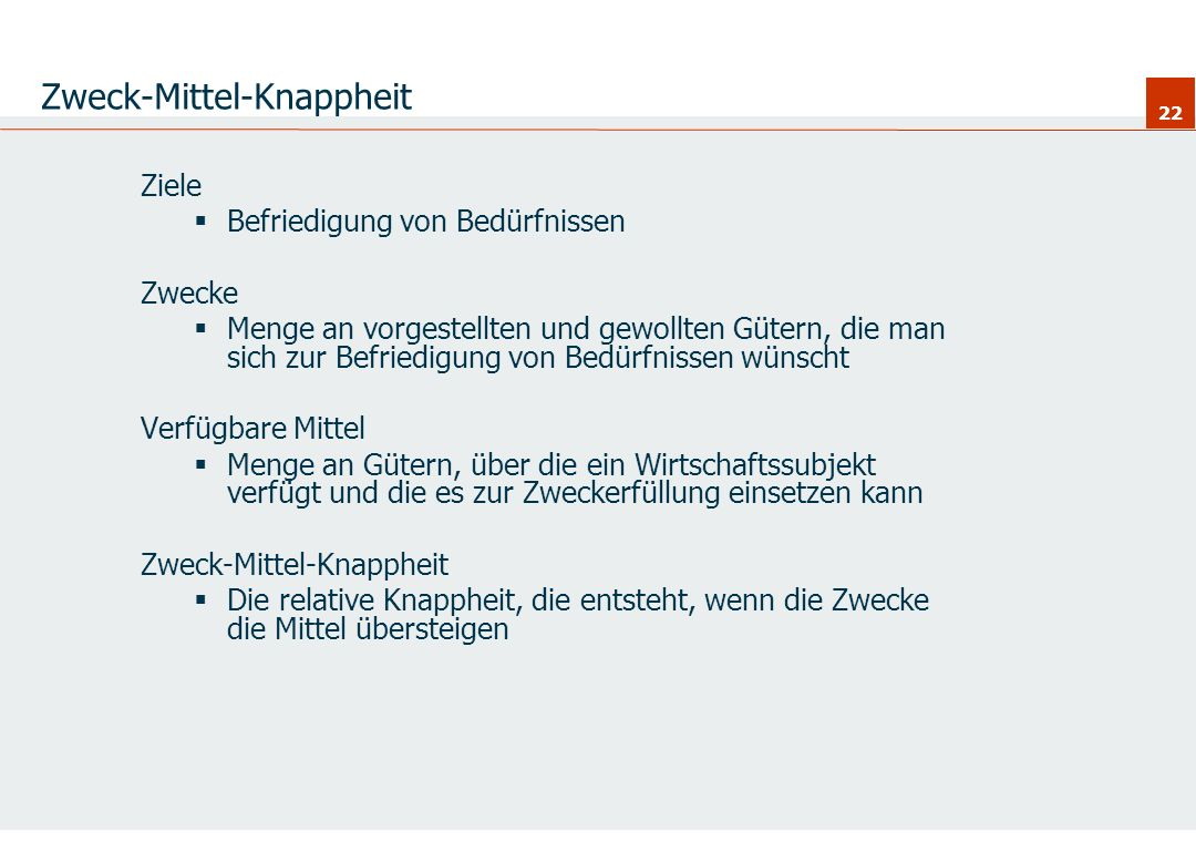 Zweck-Mittel-Knappheit