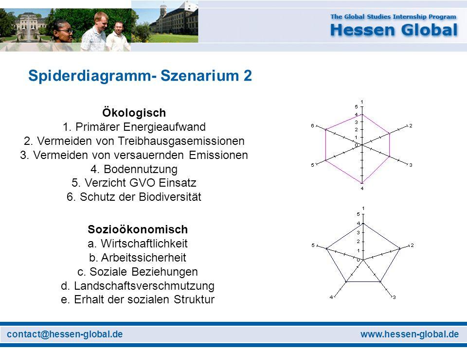 Spiderdiagramm- Szenarium 2
