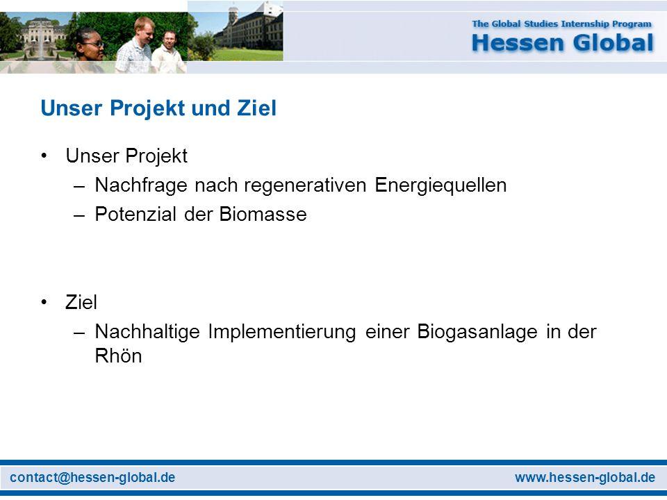 Unser Projekt und Ziel Unser Projekt