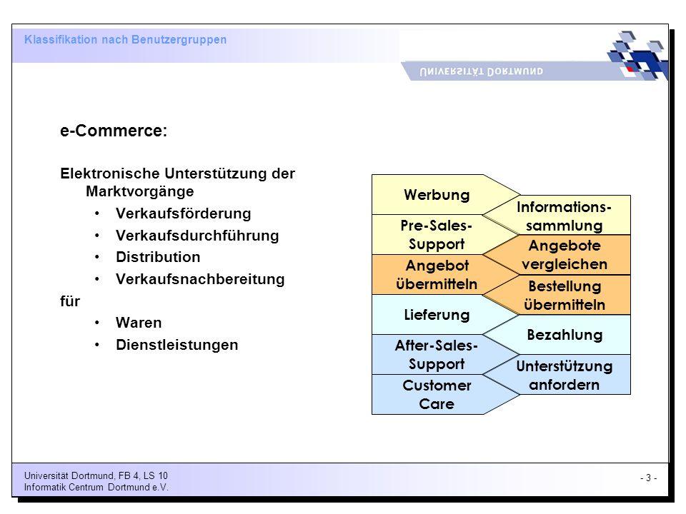 Klassifikation nach Benutzergruppen