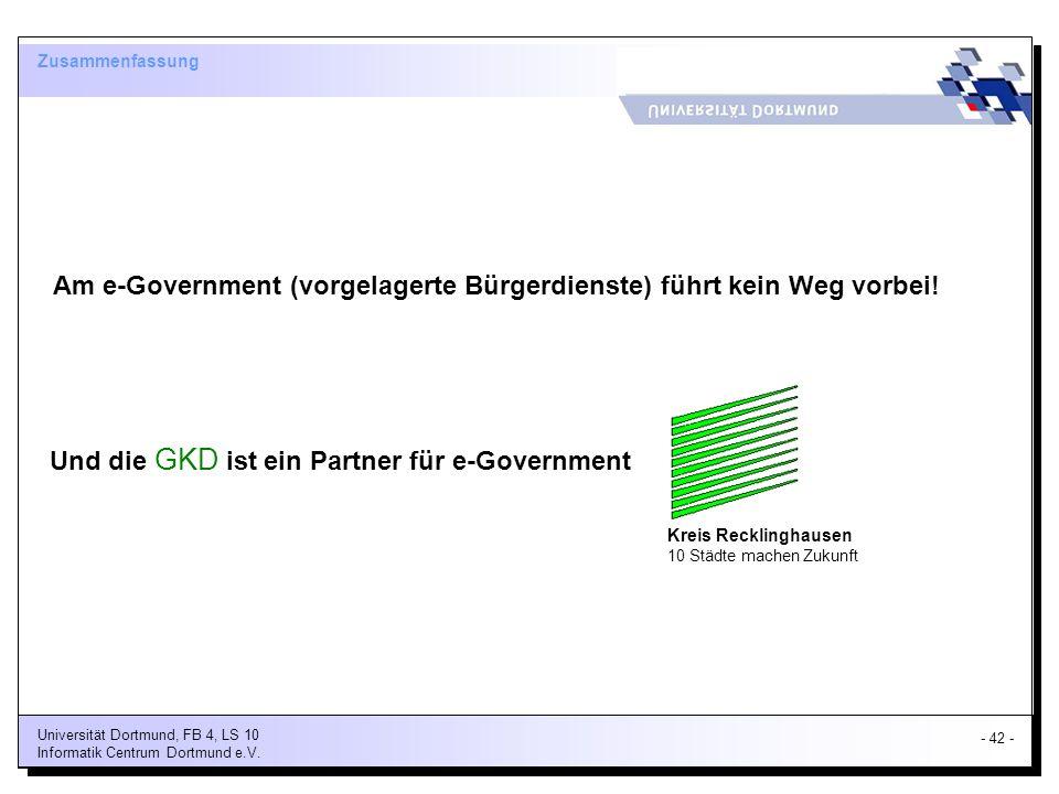 Am e-Government (vorgelagerte Bürgerdienste) führt kein Weg vorbei!