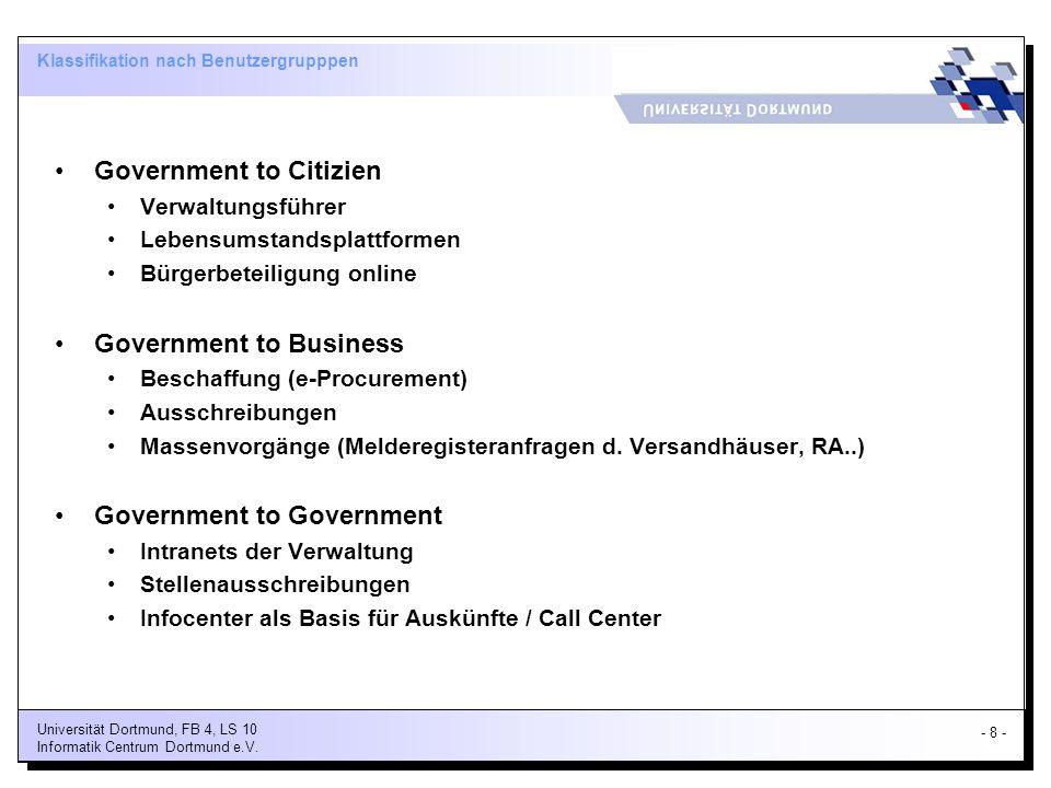 Klassifikation nach Benutzergrupppen