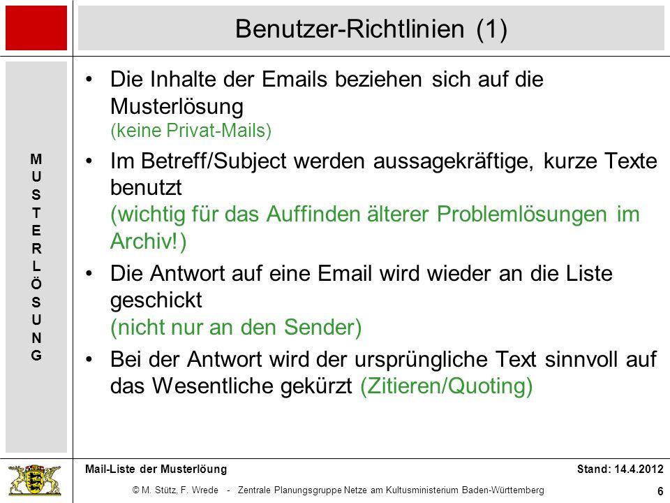 Benutzer-Richtlinien (1)