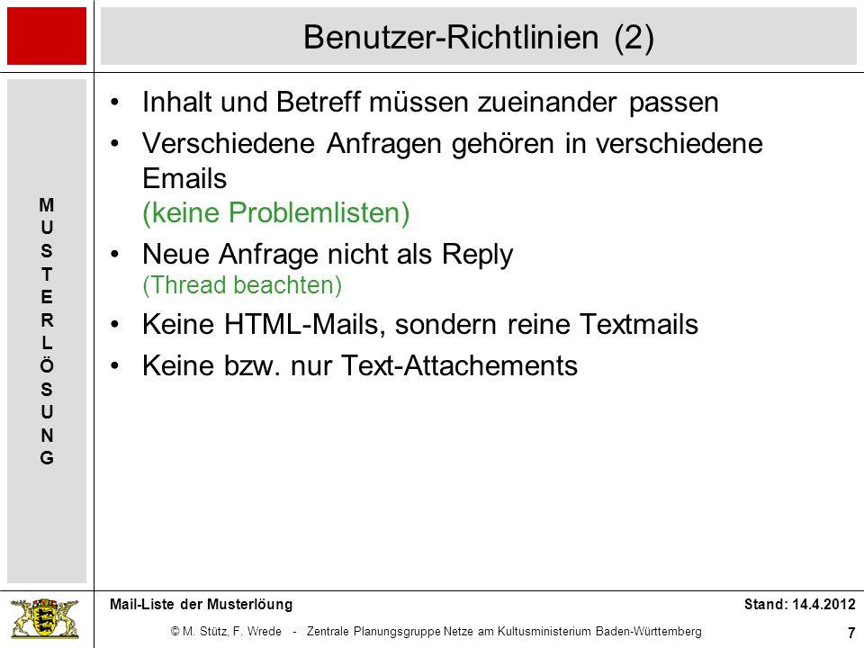 Benutzer-Richtlinien (2)