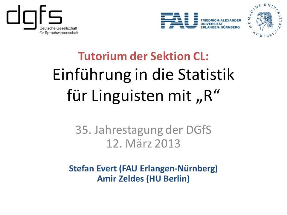 Stefan Evert (FAU Erlangen-Nürnberg) Amir Zeldes (HU Berlin)