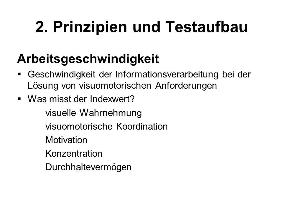 2. Prinzipien und Testaufbau