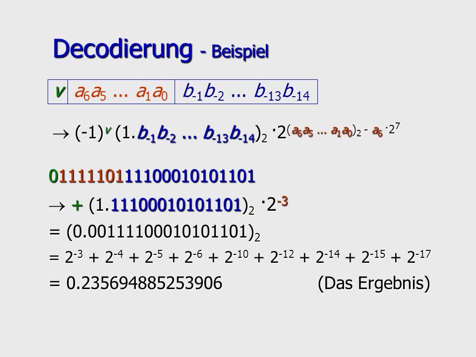 Decodierung - Beispiel