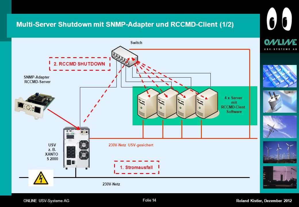 Multi-Server Shutdown mit SNMP-Adapter und RCCMD-Client (1/2)