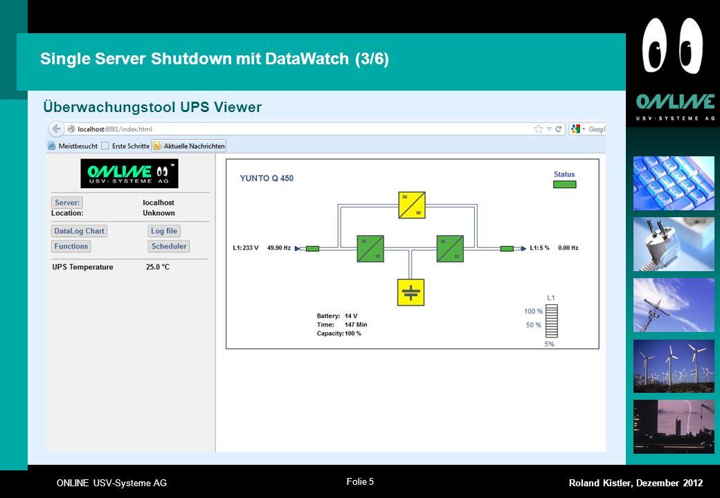 Single Server Shutdown mit DataWatch (3/6)