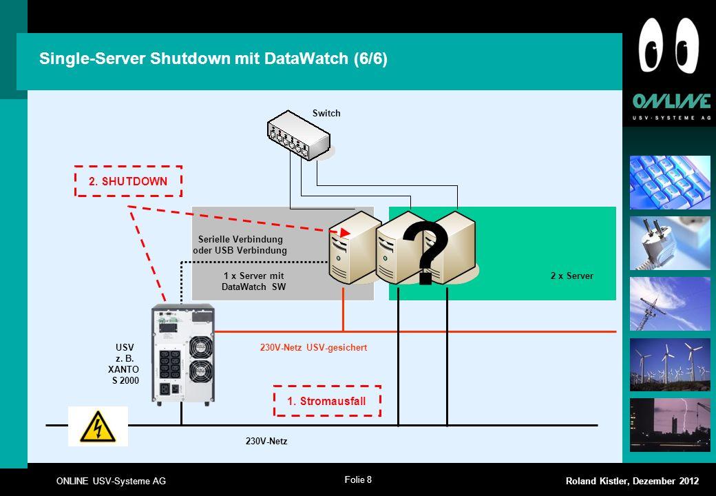 Single-Server Shutdown mit DataWatch (6/6)