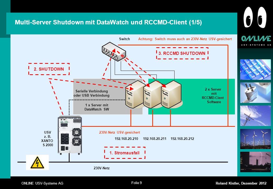 Multi-Server Shutdown mit DataWatch und RCCMD-Client (1/5)