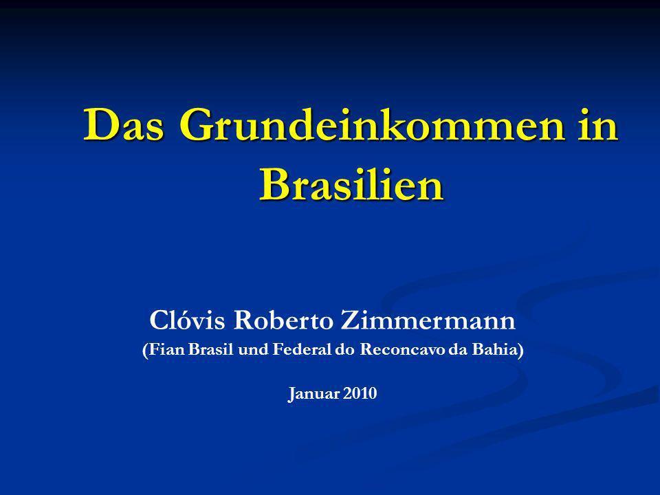 Das Grundeinkommen in Brasilien