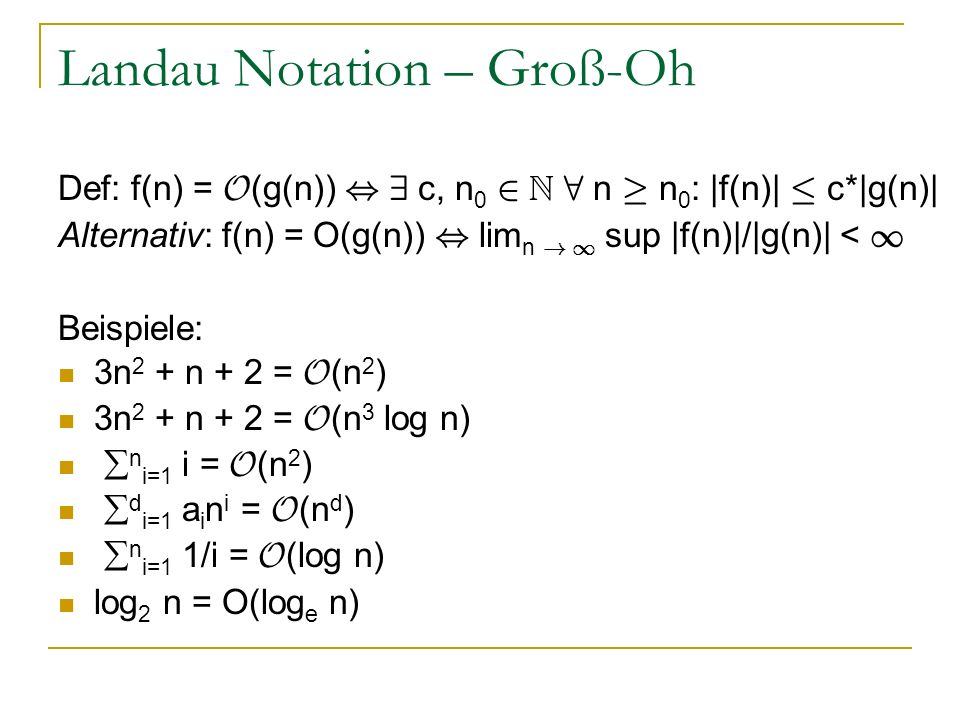 Landau Notation – Groß-Oh