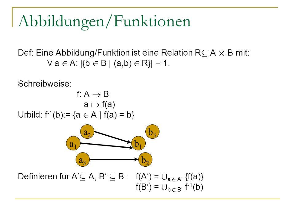 Abbildungen/Funktionen